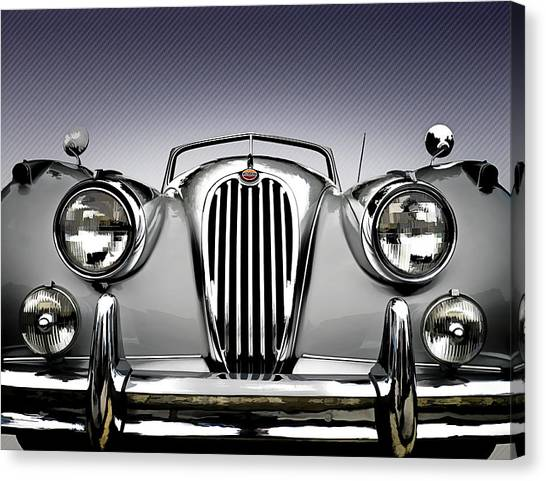 British Canvas Print - Jag Convertible by Douglas Pittman