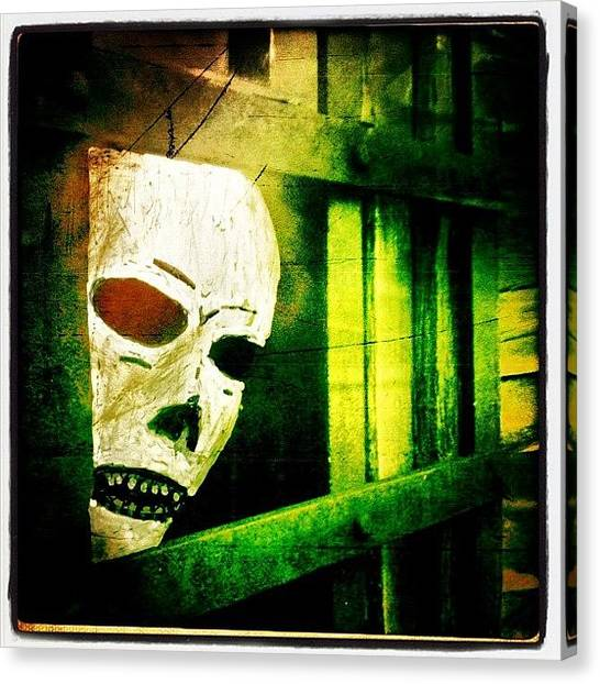 Skulls Canvas Print - Jail by Torgeir Ensrud