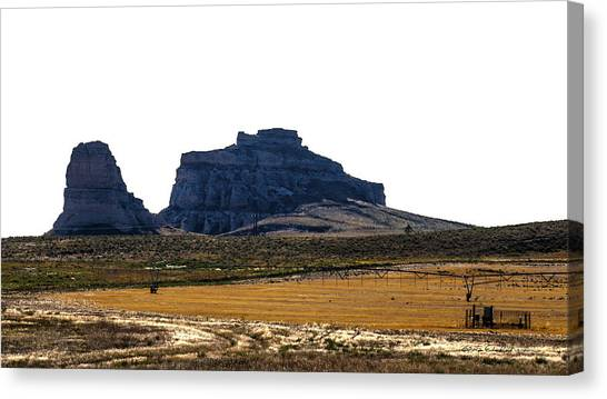 Canvas Print featuring the photograph Jailhouse Rock And Courthouse Rock by Edward Peterson