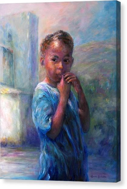 Jamacian Girl Canvas Print