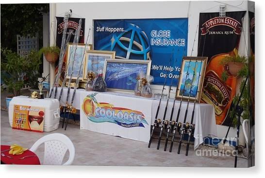 Appleton Canvas Print - Jamaica Tournament Trophies by Carey Chen