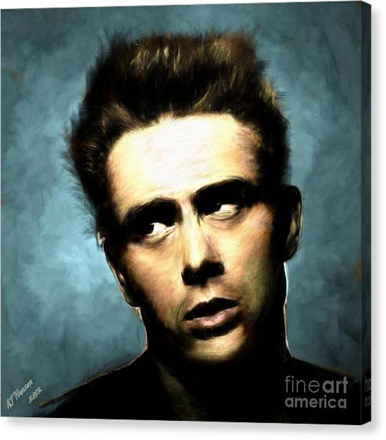 Van Goughs Ear Canvas Print - James Dean by Arne Hansen