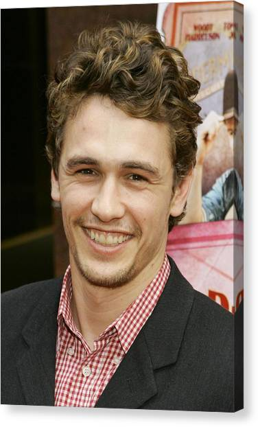 James Franco Canvas Print - James Franco At Arrivals For A Prairie by Everett