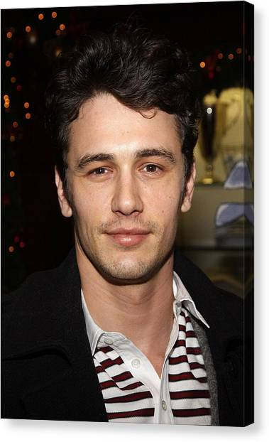 James Franco Canvas Print - James Franco At Arrivals For Brooks by Everett