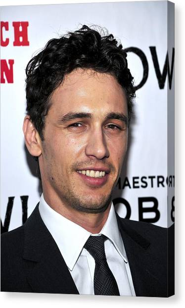 James Franco Canvas Print - James Franco At Arrivals For Howl by Everett
