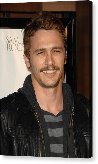 James Franco Canvas Print - James Franco At Arrivals For L.a by Everett