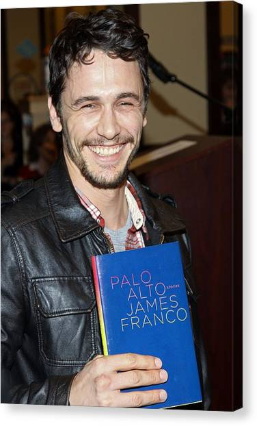 James Franco Canvas Print - James Franco At In-store Appearance by Everett