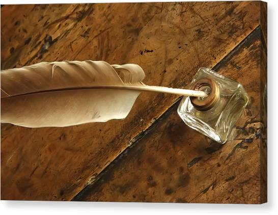 Jane Austen's Pen Canvas Print