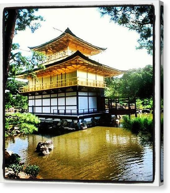 Judaism Canvas Print - #japan #temple #golden #travel by Christoph Hensch