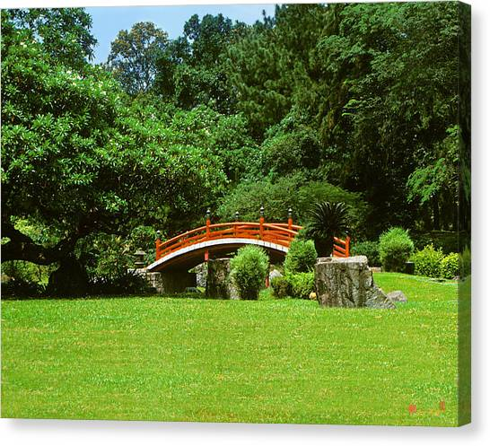 Japanese Garden Bridge 21m Canvas Print