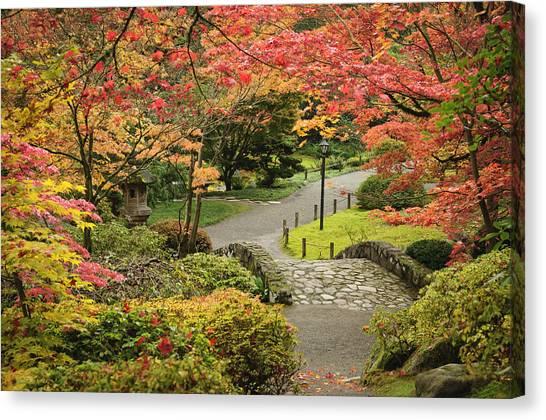 University Of Washington Canvas Print - Japanese Garden Seattle by Greg Vaughn
