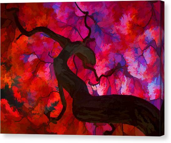 Japanese Maple Branch Canvas Print