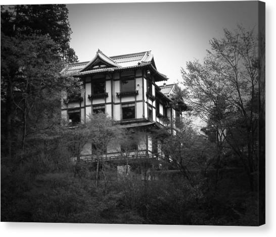 Monastery Canvas Print - Japanese Traditional House by Naxart Studio
