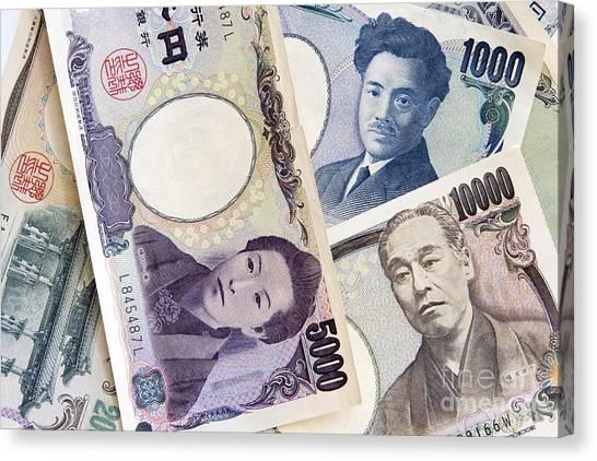 Yen Canvas Print - Japanese Yens by Igor Kislev