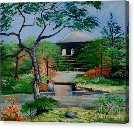 Jardin Japonais  Canvas Print