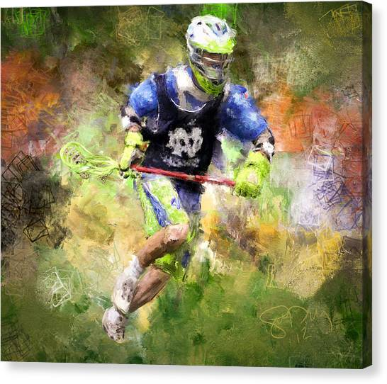 Jaxx Lacrosse 2 Canvas Print by Scott Melby