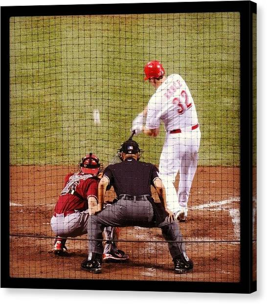 Baseball Teams Canvas Print - Jay Bruce by Reds Pics