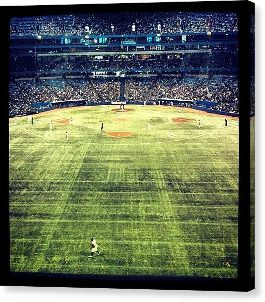 Toronto Blue Jays Canvas Print - Jays Vs. Orioles by Marissa Soragnese