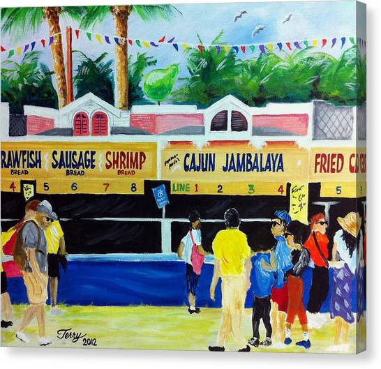 Jazz Fest Food Canvas Print by Terry J Marks Sr