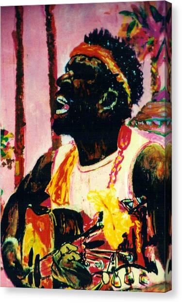 Jazz Musician Canvas Print