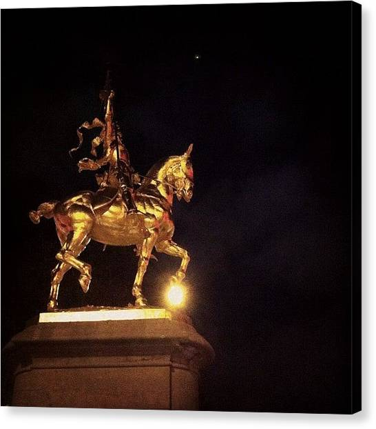 Philadelphia Canvas Print - Jeanne D'arc And A Single Star by Katie Cupcakes