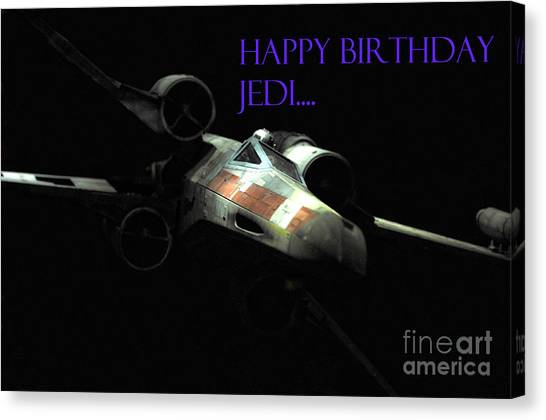 Prop Planes Canvas Print - Jedi Birthday Card by Micah May