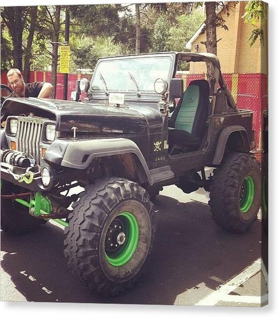 Jeep Canvas Print - #jeep #wrangler #cool #car #convertible by Alex Mamutin