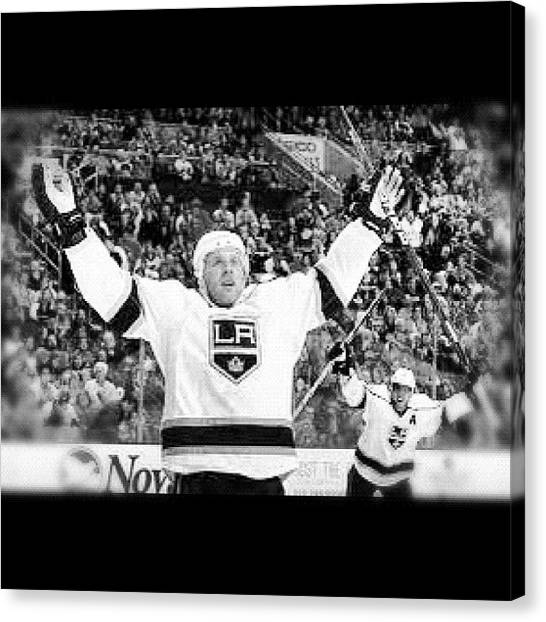 Hockey Canvas Print - Jeff Carter by Anthony Chin