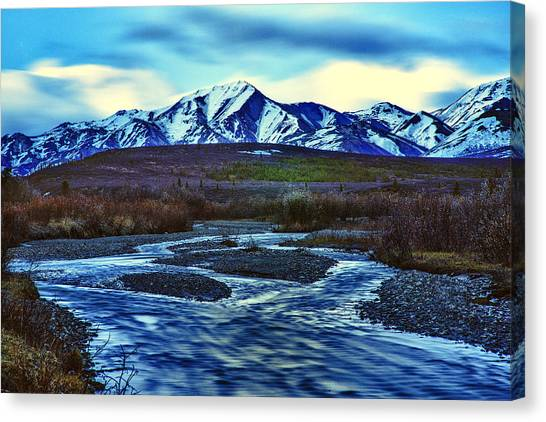 Denali Canvas Print - Jenny Creek Dawn by Rick Berk