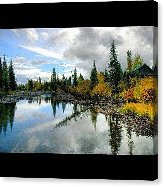 Wyoming Canvas Print - #jennylake #tetons #grandtetons #wy by Yvette Harbour