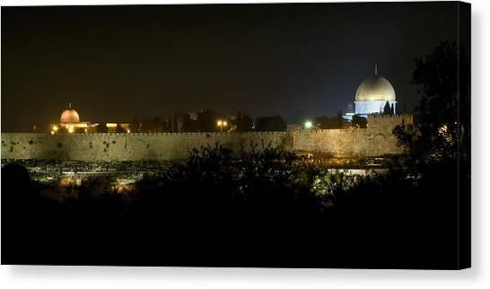 Jerusalem- City On A Hill Canvas Print