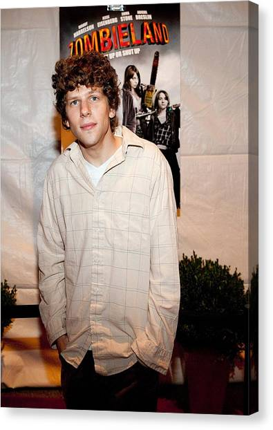 Zombieland Canvas Print - Jesse Eisenberg At Arrivals by Everett