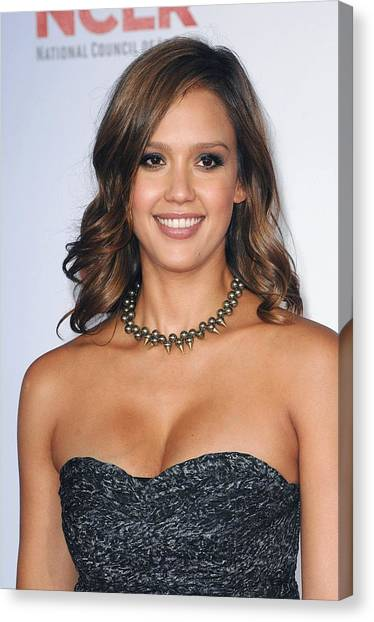 Jessica Alba Canvas Print - Jessica Alba At Arrivals For 2011 Nclr by Everett