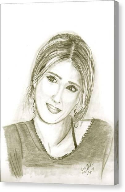 Jessica Alba Canvas Print - Jessica Alba by Brian White