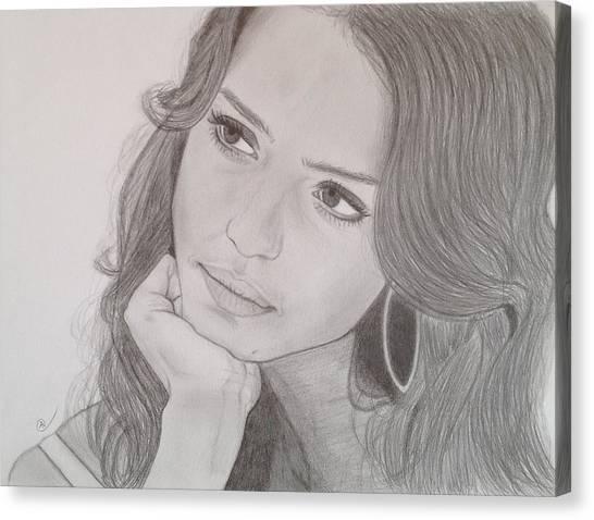 Jessica Alba Canvas Print - Jessica by Andrew Nelson