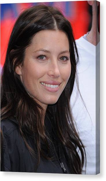 At A Public Appearance Canvas Print - Jessica Biel At A Public Appearance by Everett