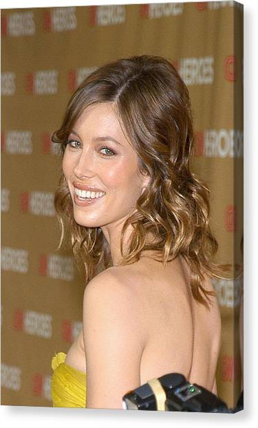 Jessica Biel At Arrivals For All-star Canvas Print by Everett