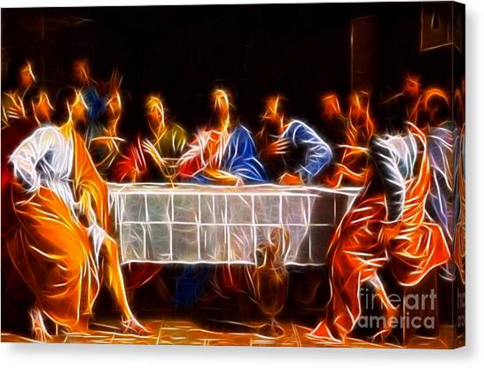 Messiah Canvas Print - Jesus The Last Supper by Pamela Johnson