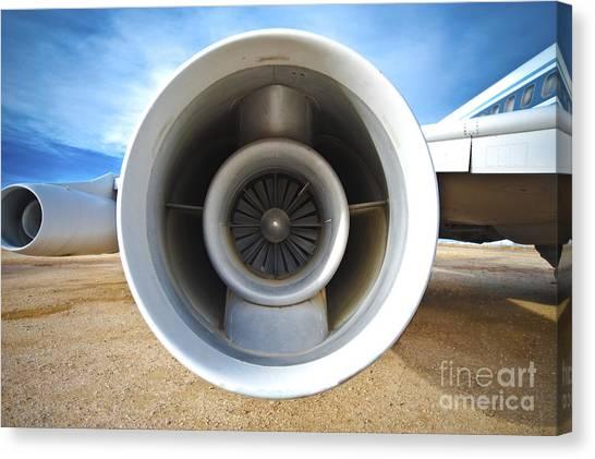 Jet Engine Canvas Print by Eddy Joaquim