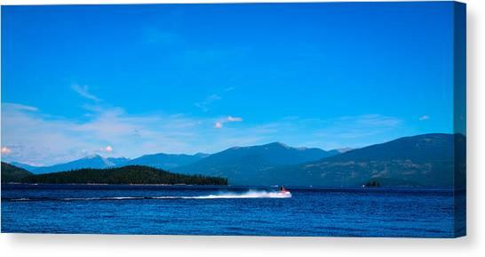 Jet Skis Canvas Print - Jet Ski On Priest Lake by David Patterson
