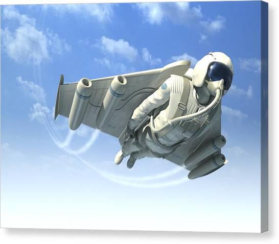 Jetman, Artwork Canvas Print by Henning Dalhoff