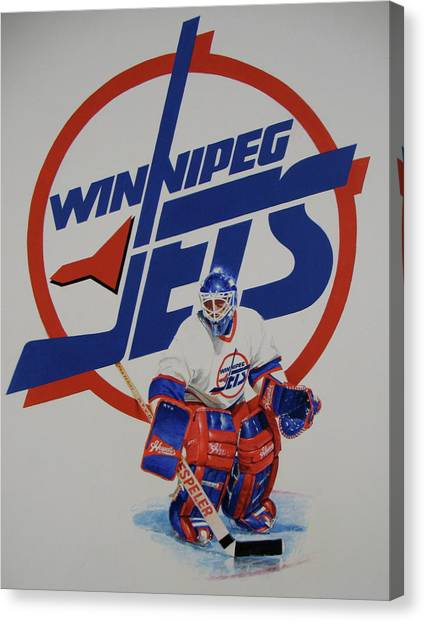 Winnipeg Jets Canvas Print - Jets by Cliff Spohn