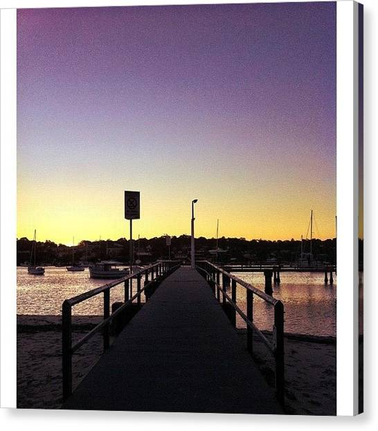 Saints Canvas Print - Jetty #iphoneography by Kendall Saint