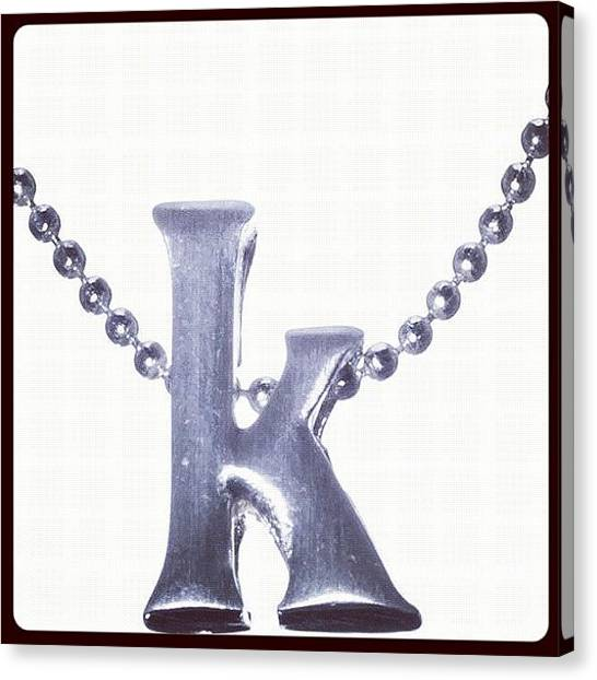 Presents Canvas Print - #jewelry #initialjewelry #letter by Kristin Hecker