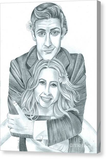 Jim And Pam Canvas Print