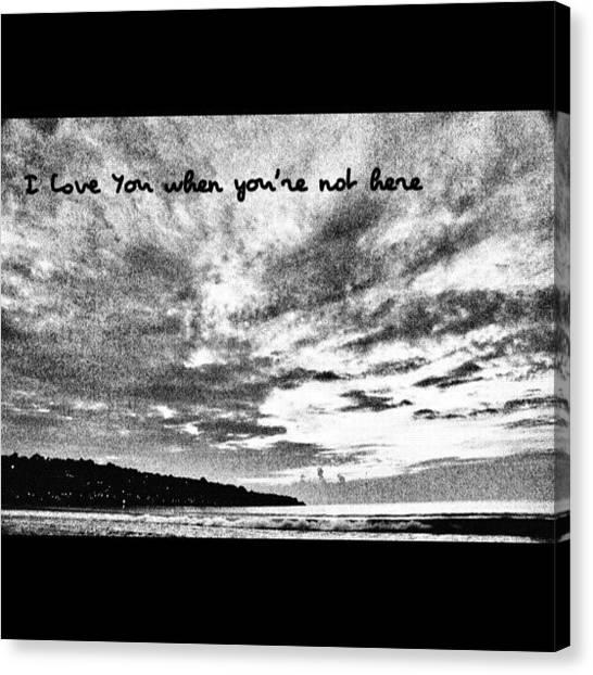 Beach Sunsets Canvas Print - Jimbaran Beach In The Night by Martin Lee