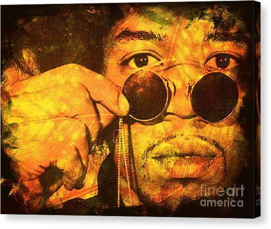 Jimi Canvas Print by Ankeeta Bansal