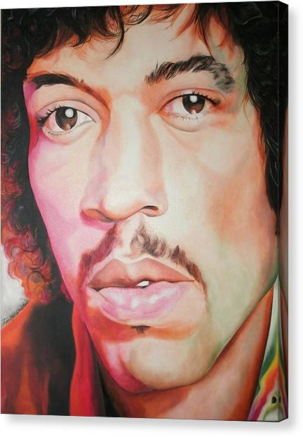 Jimi Hendrix Canvas Print by Timothe Winstead