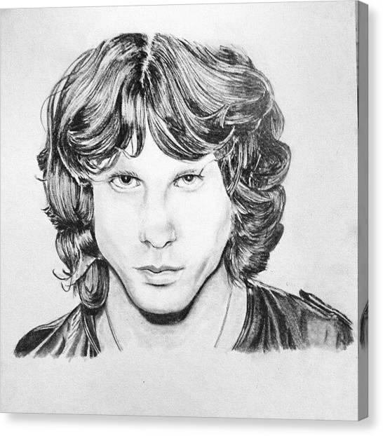 Realism Art Canvas Print - #jimmorrison #celebrity #singer #rocker by Afiq Rashid