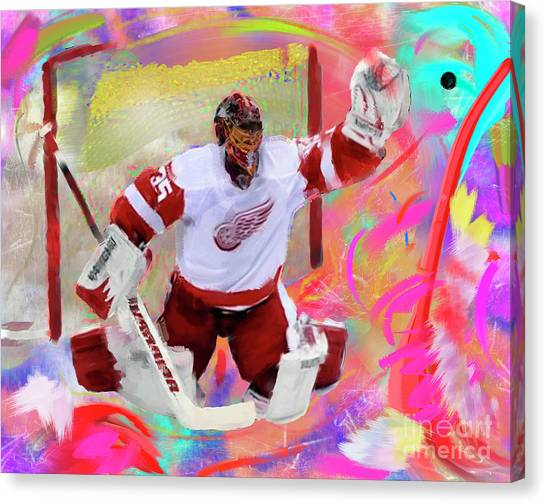 Jimmy Howard Canvas Print by Donald Pavlica